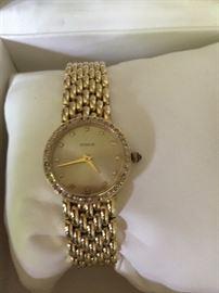 Geneve Gold Watch with Diamonds - 14K