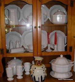 Pfaltzgraf Dinner set with everything, pottery Cookie jar has been sold