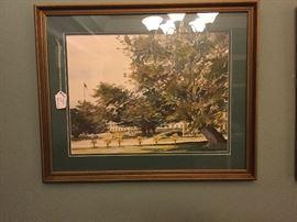 Friendship Oak Watercolor Robert Lewis