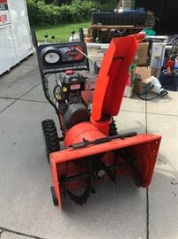 Heavy duty snow blower like new