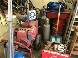 Portable generator, welding supplies, shop equipment