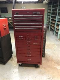 several Snap-on boxes filled with estimated over $4,000 like-new tools