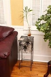 Iron plant stand.