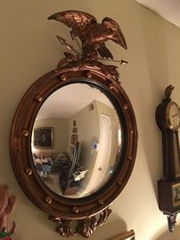 1940's Gold Eagle Convex Mirror