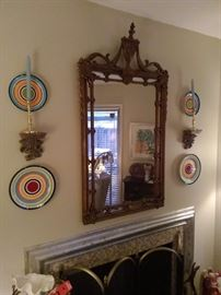 Gold Ornate Dining Mirror