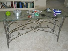 hand cast library table