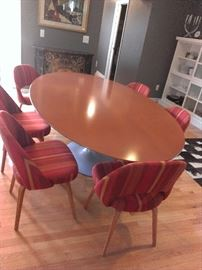 "96"" Oval Dining Table by Eero Saarinen from Knoll. Must see!"