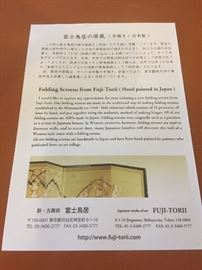 Certificate of Authenticity for Japanese screen