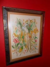 Jay Harder signed water color