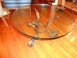 heavy glass coffee table