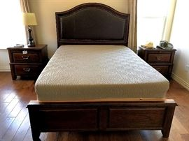 Queen bed frame with Sleep Number mattress