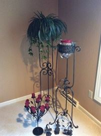 Beautiful metal plant stands!