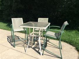4 piece high-top  patio set