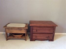 Another padded storage bench and nightstand!