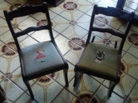 PAIR OF MINIATURE CHAIRS