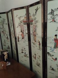 Six-panel extra large Asian screen