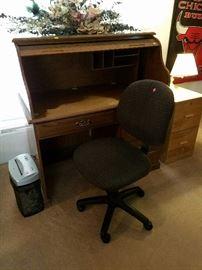 "Desk 48""L X 50""H X 30""W                                                     Chair    File Cabinet    Shredder"