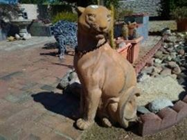 Concrete Mountain Lion Statue