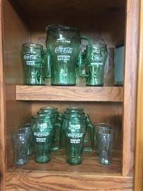 Whataburger Coca-Cola Cowboys Pitcher and glasses set