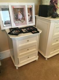 WHITE DRESSER AND NIGHT STAND