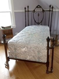Gorgeous cast metal twin bed
