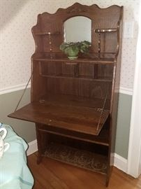 Antique secretary etegere
