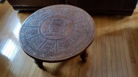 Cool Leather Top Table (appears to be of Aztec or Mayan or similar origin)