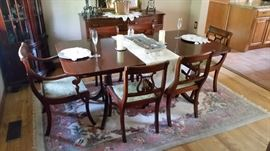 Dining Table w/ Lyre-back Chairs