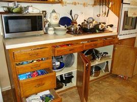 Pots - Pans - kitchen is full