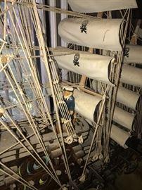 VINTAGE LIGHTED LARGE SHIP MODEL