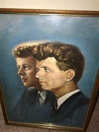 JFK FRAMED ART