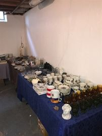 VINTAGE GLASSWARE AND CHINA