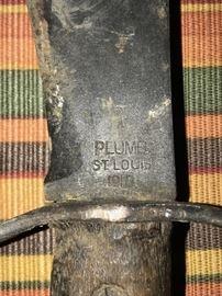 WW1 PLUMB BOLO MODEL 1910 FIGHTING FIXED BLADE KNIFE