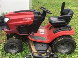 Craftsman riding lawn mower. Electric start, 24 HP, 54 inch deck, only 90 hours!!!!