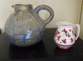 Stoneware, ceramic pitcher