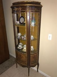 ANTIQUE ORNATE HALF MOON CURIO