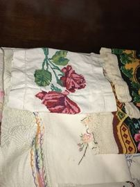 UKRAINIAN HAND-MADE NEEDLEWORK LINENS TOWELS, NAPKINS, RUNNERS, PILLOW CASES, CLOTHING AND MORE