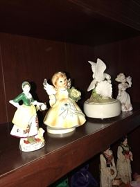 ANGEL AND FIGURINES