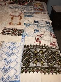 UKRAINIAN HANDMADE NEEDLEWORK LINENS TOWELS, NAPKINS, RUNNERS, PILLOW CASES, CLOTHING AND MORE