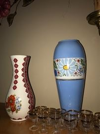 COLLECTIBLE VASES AND SHOT GLASSES