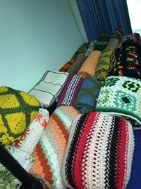 TONS OF HAND-KNITTED BLANKETS