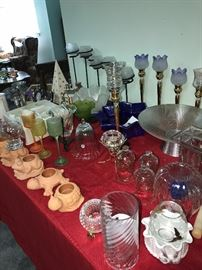 PARTYLITE BRAND NEW FROM BOXES HURICANES, CANDLE HOLDERS, LAMPS, VASES, JARS AND MORE