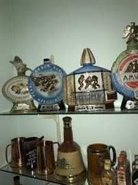 TONS OF COLLECTIBLE JIM BEAM AND LIQUOR BOTTLES