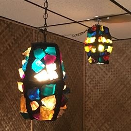 These groovy lamps have chunks of colorful lucite that remind us of the crystals from Land of the Lost.
