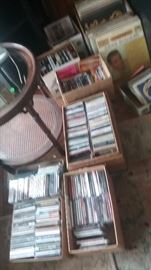 CD's of Rock and other from 1970's to 2000, Records including Nina Simon, Woody Guthrie and others