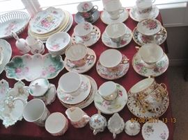 English Bone China Tea Cups and Saucers
