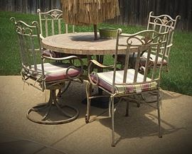 Iron patio dining set