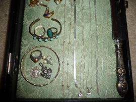 STERLING CHAINS, BRACELET, RING, CHARMS
