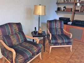 floor table lamp  pair of chairs
