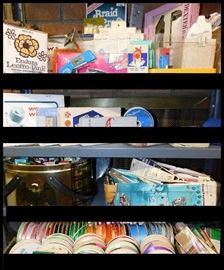 Sampling of the hundreds of sewing notions including ribbon, bindings, needle threaders, snaps, braiders and scissors